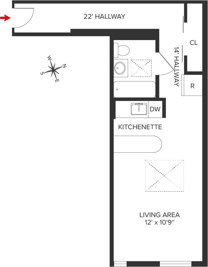 Unit 5F at 151 East 20th Street, New York, NY 10003