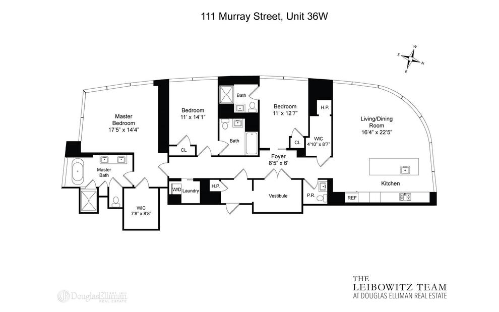 Unit 36W at 111 Murray Street, New York, NY 10007
