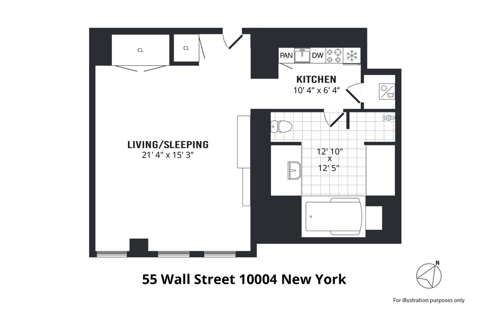 Unit 603 at 55 Wall Street, New York, NY 10005