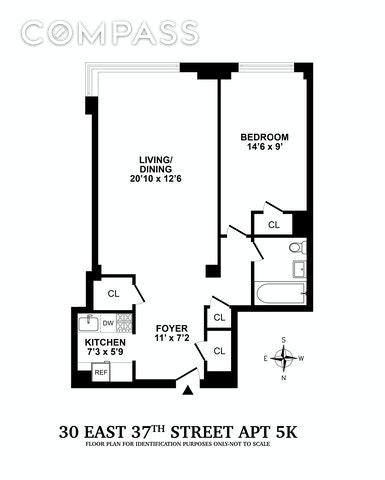 Unit 5K at 30 East 37th Street, New York, NY 10016
