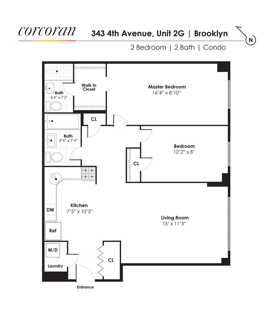 Unit 2G at 343 4th Avenue, Brooklyn, NY 11215