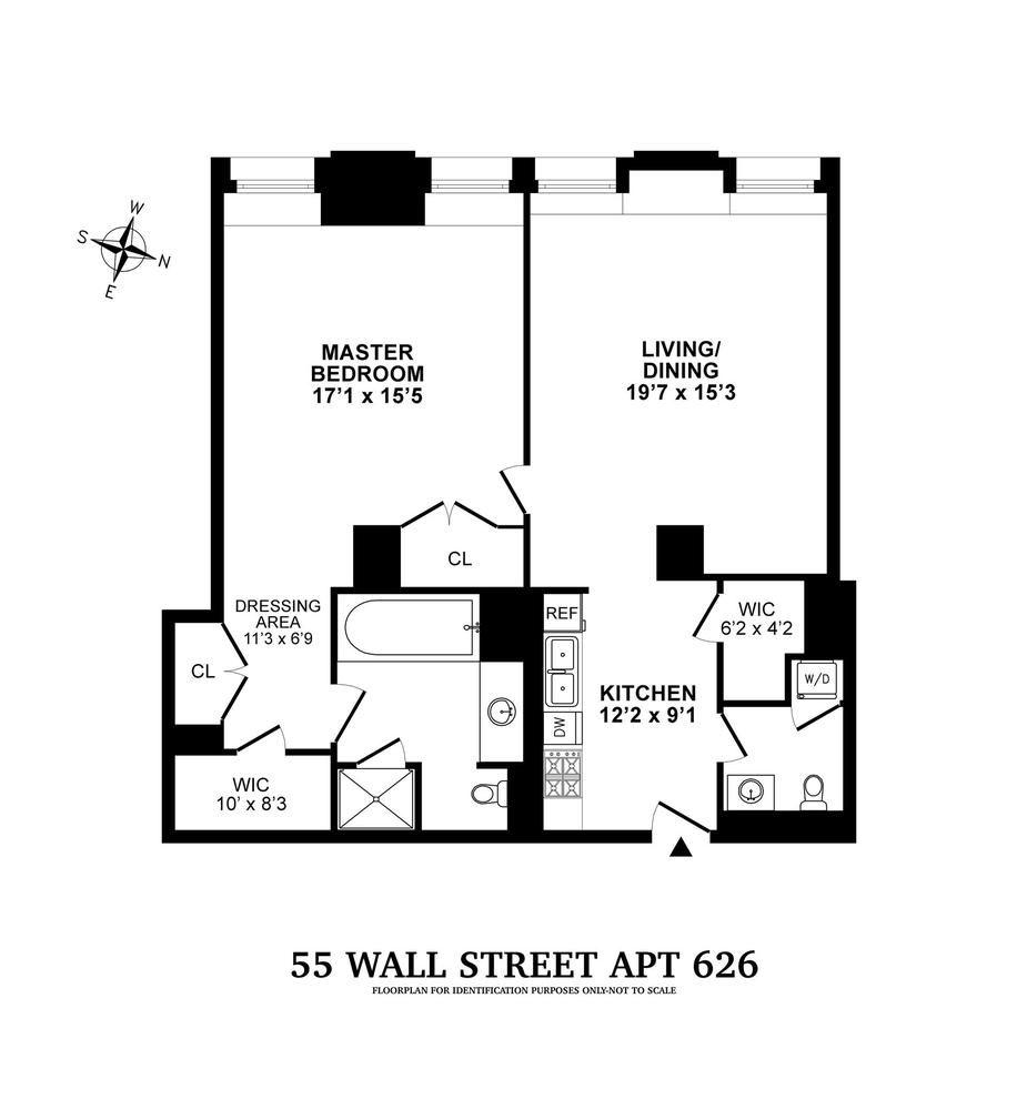 Unit 626 at 55 Wall Street, New York, NY 10005