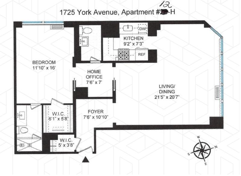 Unit 12H at 1725 York Avenue, New York, NY 10128
