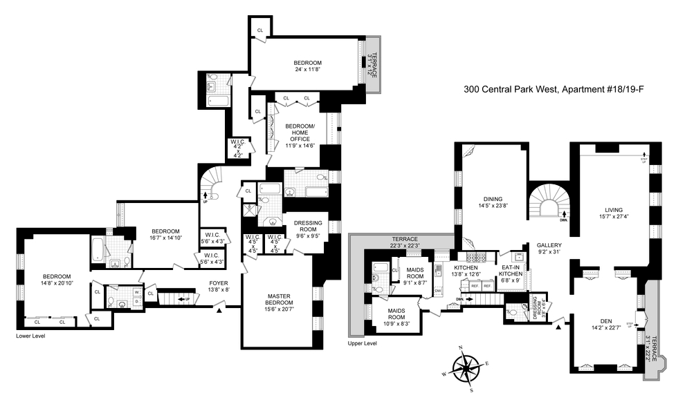 Unit 1819F at 300 Central Park West, New York, NY 10024