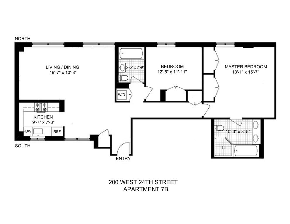 Unit 7B at 200 West 24th Street, New York, NY 10011