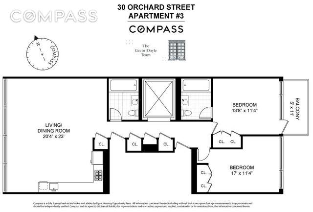 Unit 3 at 30 Orchard Street, New York, NY 10002