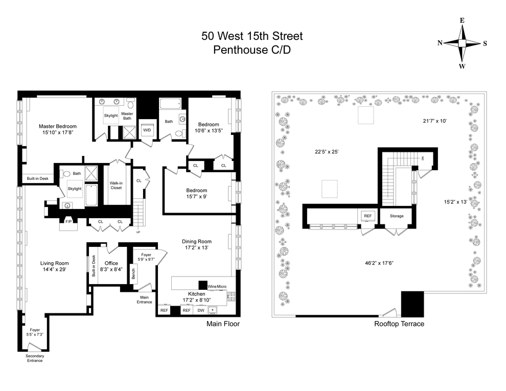 Unit PHDPHC at 50 West 15th Street, New York, NY 10011