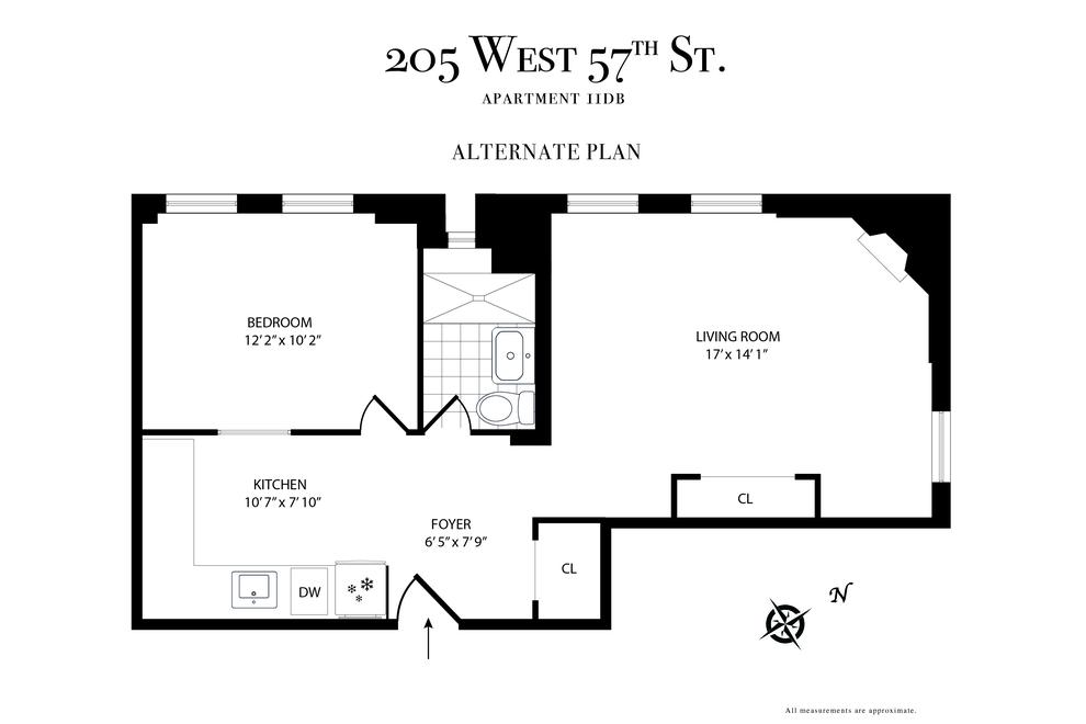 Unit 11DB at 205 West 57th Street, New York, NY 10019