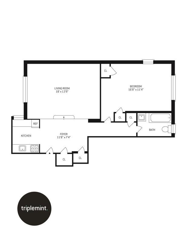 Unit 6A at 300 West 72nd Street, New York, NY 10023