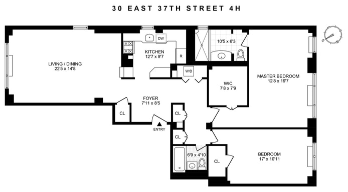 Unit 4HJ at 30 East 37th Street, New York, NY 10016