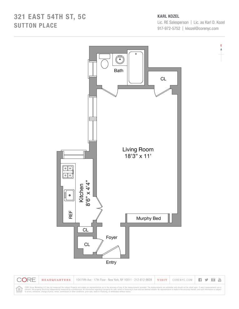 Unit 5C at 321 East 54th Street, New York, NY 10022