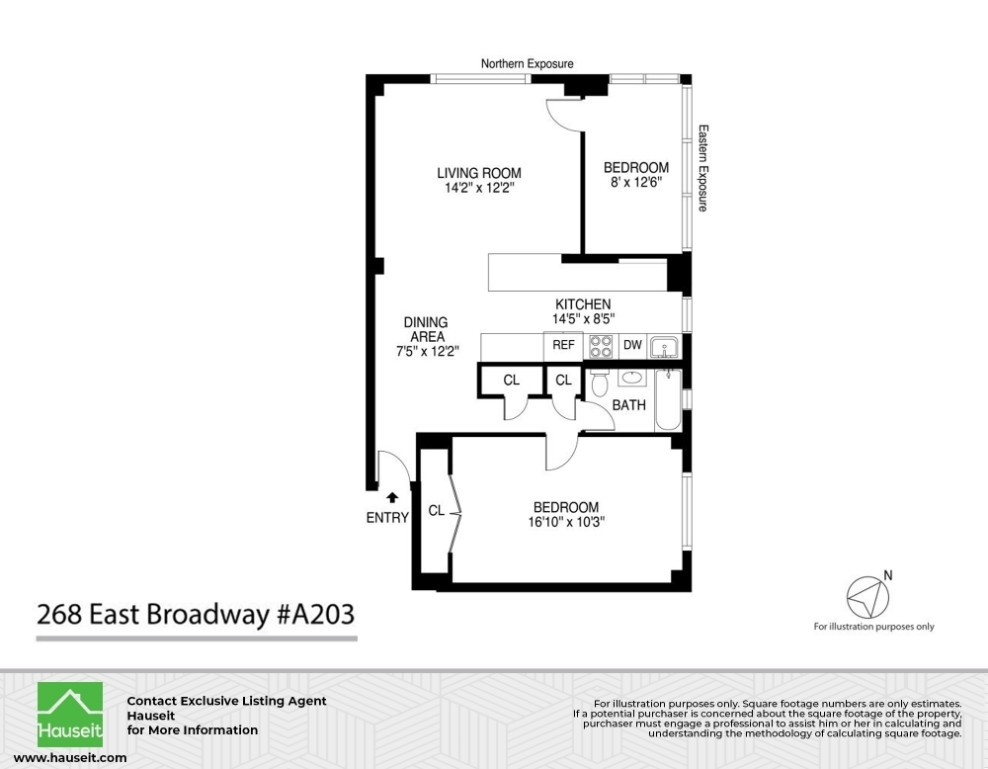 Unit A203 at 268 East Broadway, New York, NY 10002