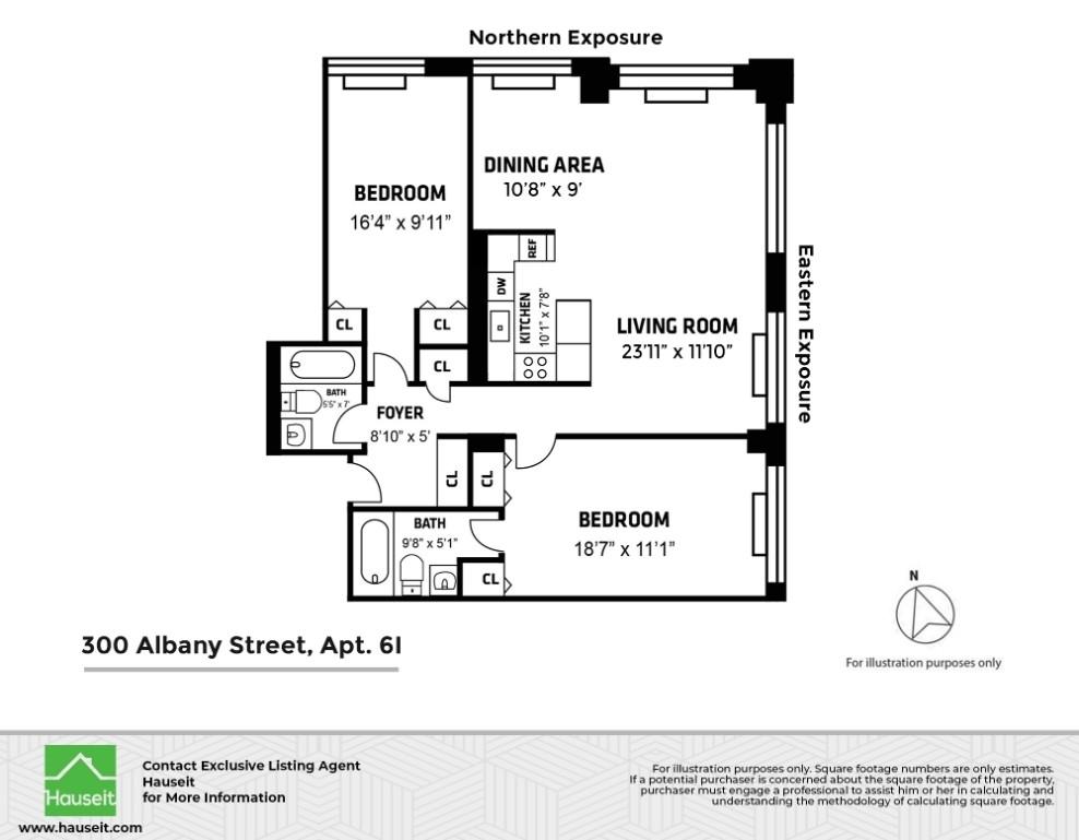 Unit 6I at 300 Albany Street, New York, NY 10280