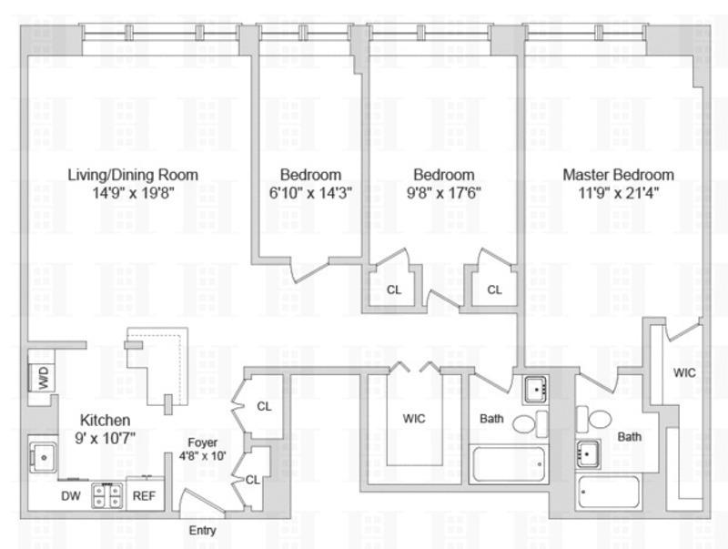 Unit 7B at 402 East 90th Street, New York, NY 10128