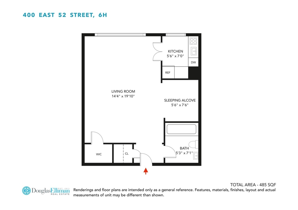Unit 6H at 400 East 52nd Street, New York, NY 10022