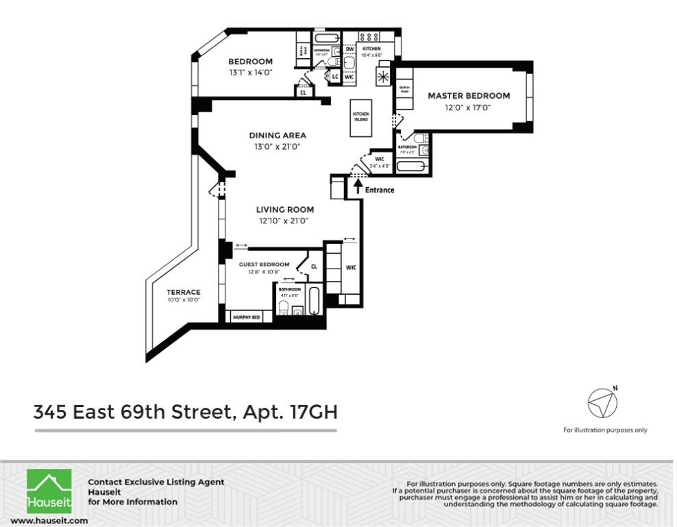 Unit 17GH at 345 East 69th Street, New York, NY 10021