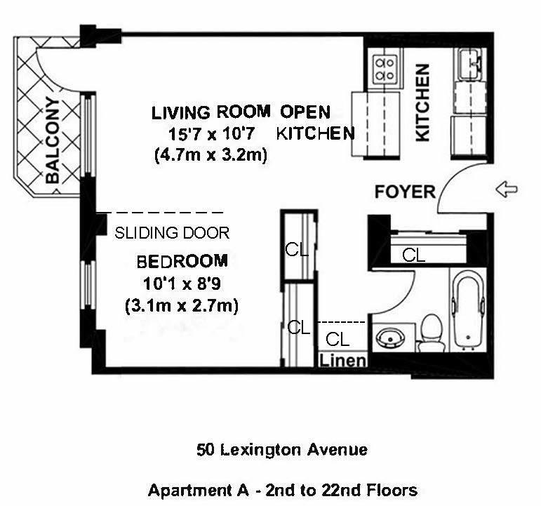 Unit 7A at 50 Lexington Avenue, New York, NY 10010