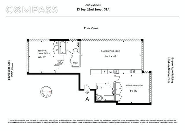 Unit 32A at 23 East 22nd Street, New York, NY 10010