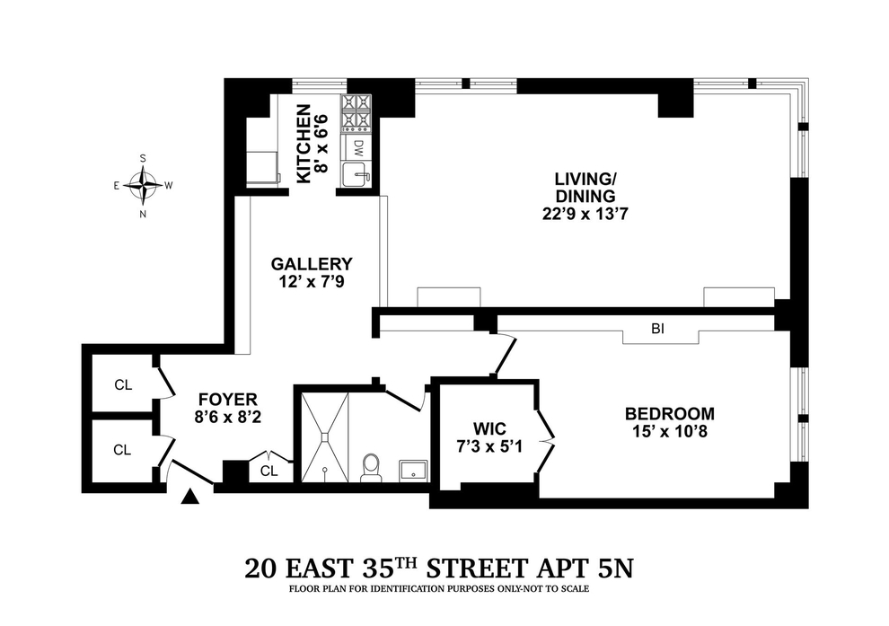 Unit 4N at 20 East 35th Street, New York, NY 10016