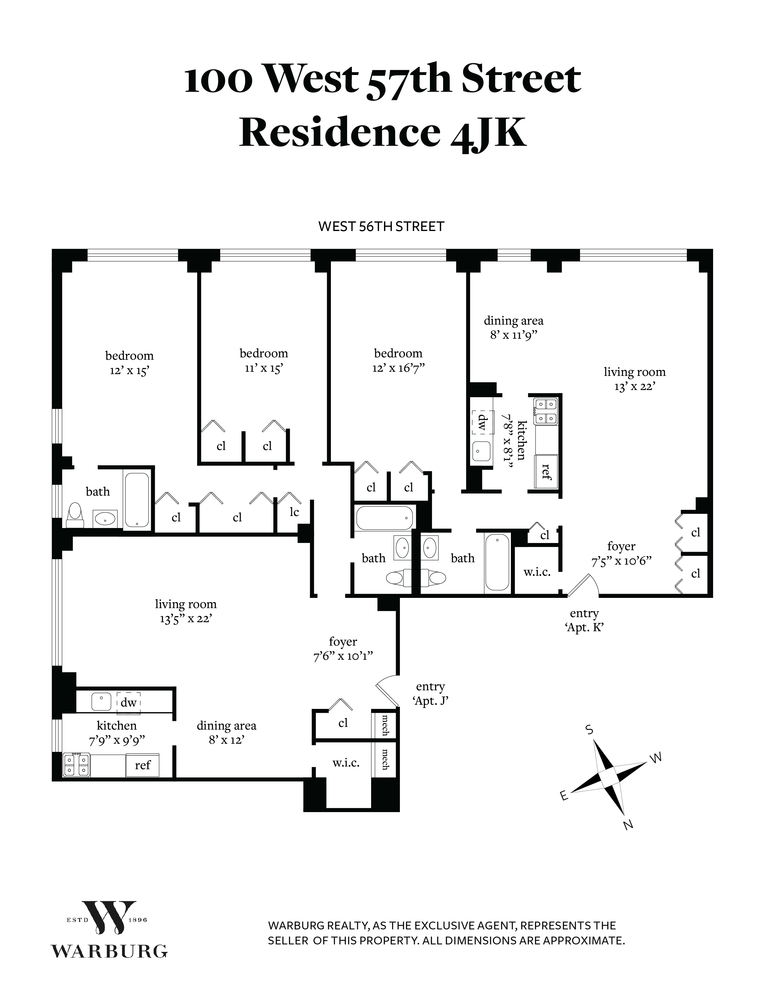 Unit 4JK at 100 West 57th Street, New York, NY 10019