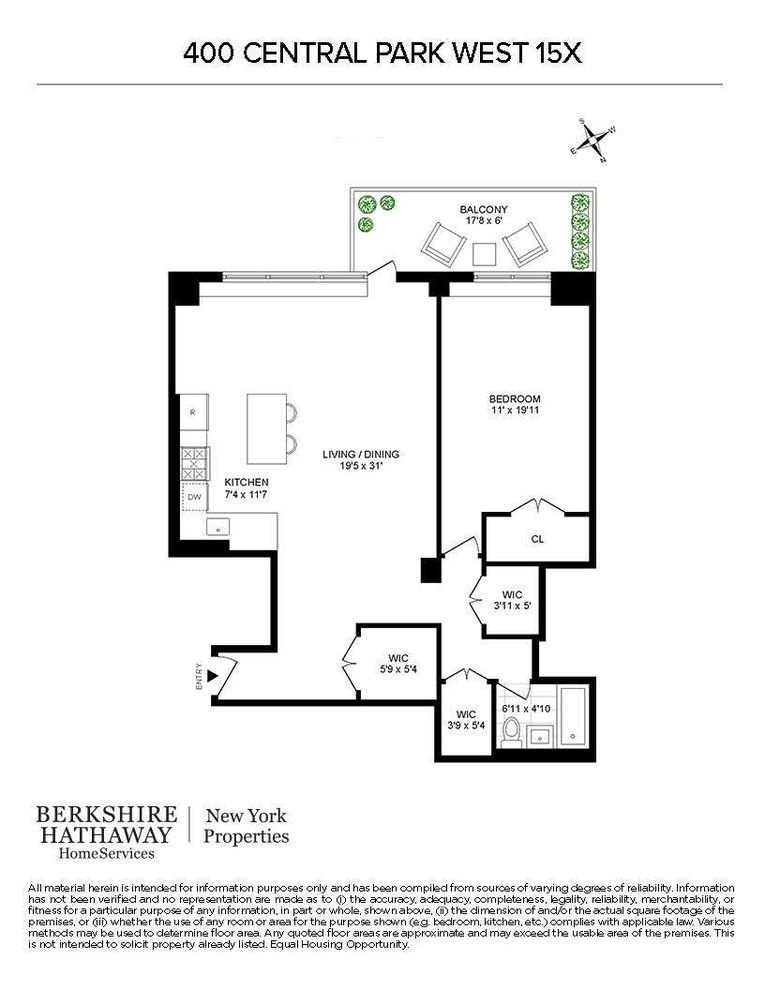 Unit 15X at 400 Central Park West, New York, NY 10025
