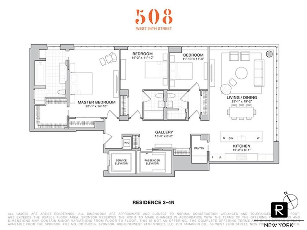 Unit 4N at 508 West 24th Street, New York, NY 10011