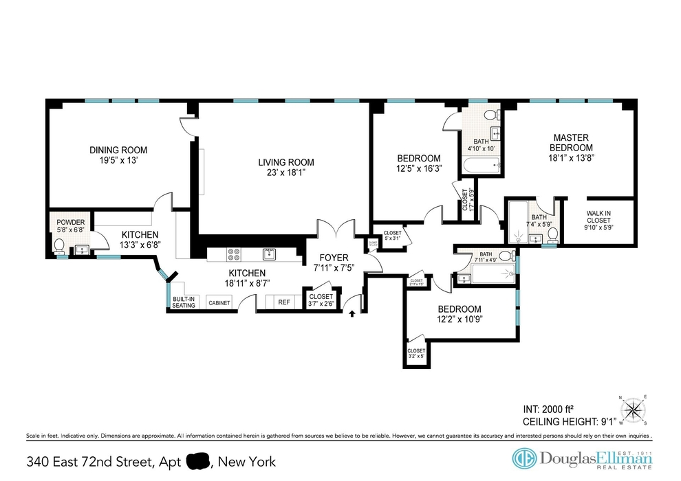 Unit 12F at 340 East 72nd Street, New York, NY 10021