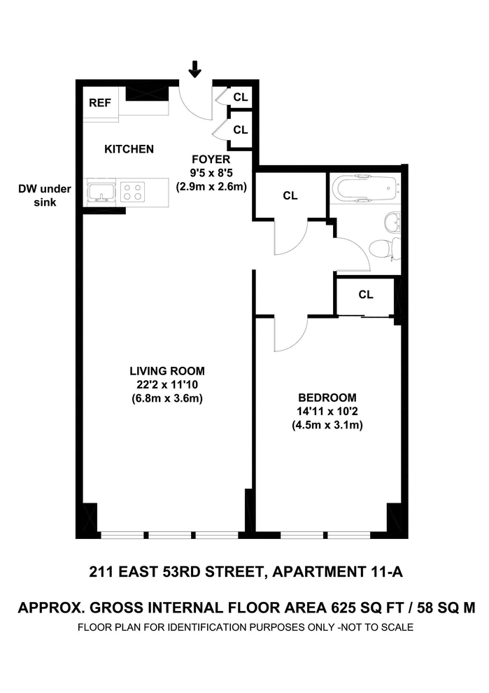 Unit 11A at 211 East 53rd Street, New York, NY 10022