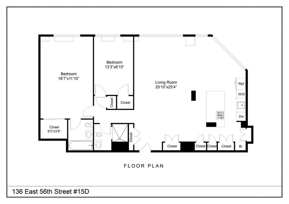 Unit 15D at 136 East 56th Street, New York, NY 10022