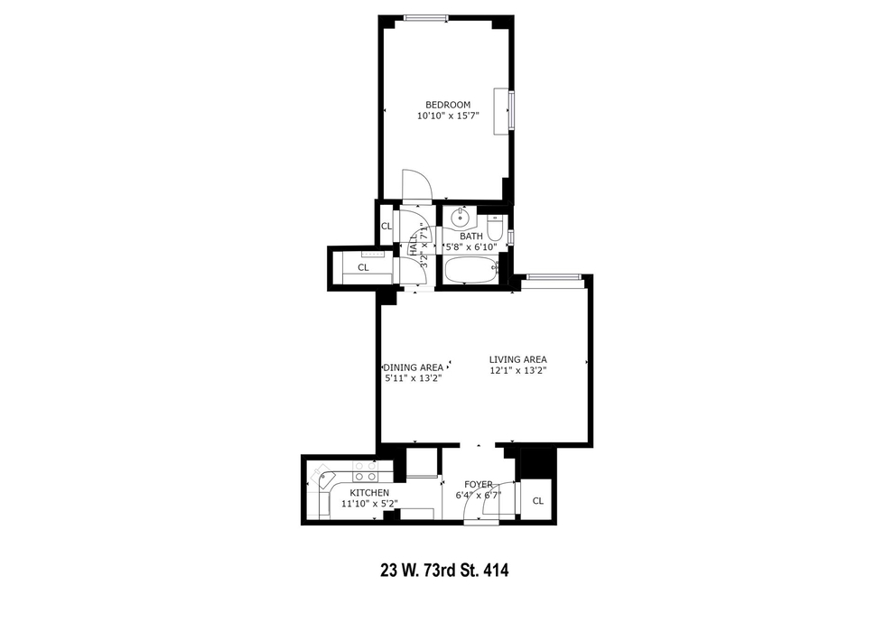 Unit 414 at 23 West 73rd Street, New York, NY 10023