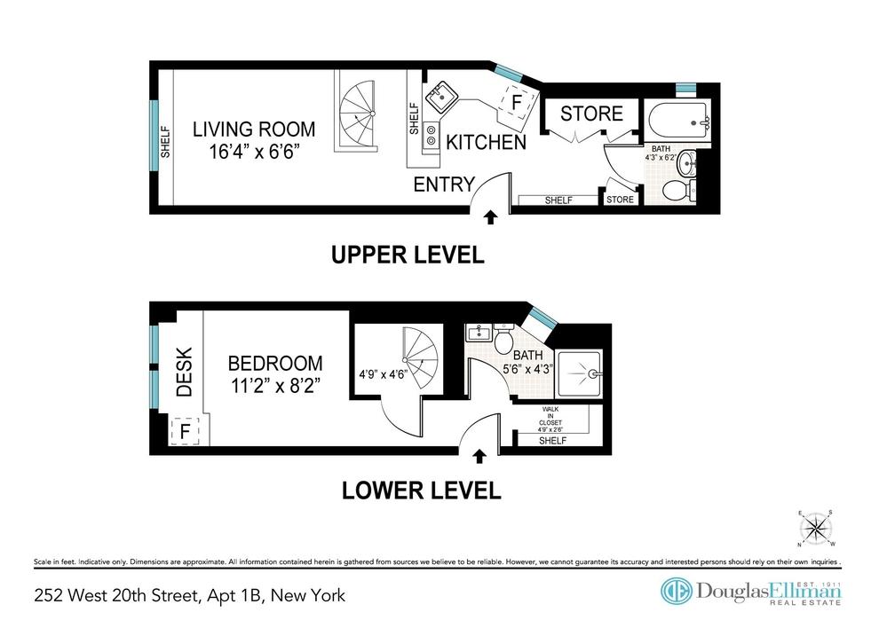 Unit 1B at 252 West 20th Street, New York, NY 10011
