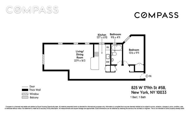 Unit 5B at 825 West 179th Street, New York, NY 10033