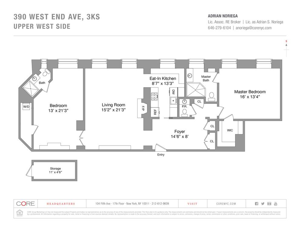 Unit 3KS at 390 West End Avenue, New York, NY 10024