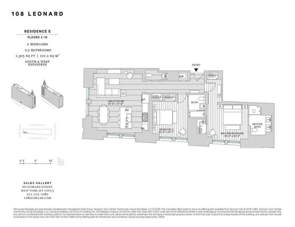Unit 9E at 108 Leonard Street, New York, NY 10013