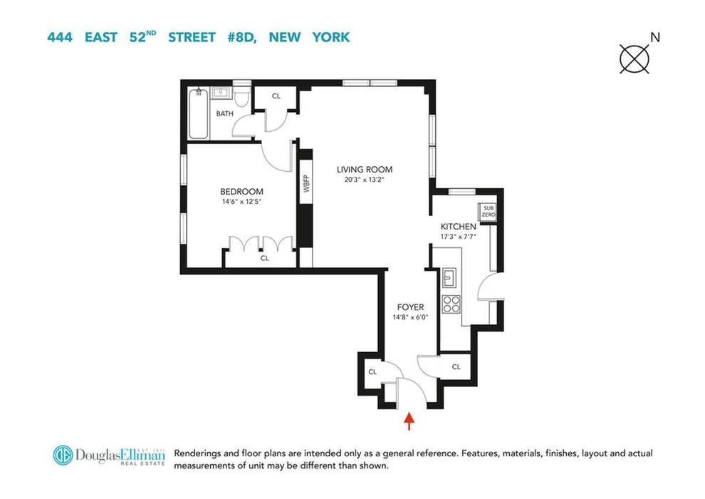 Unit 8D at 444 East 52nd Street, New York, NY 10022