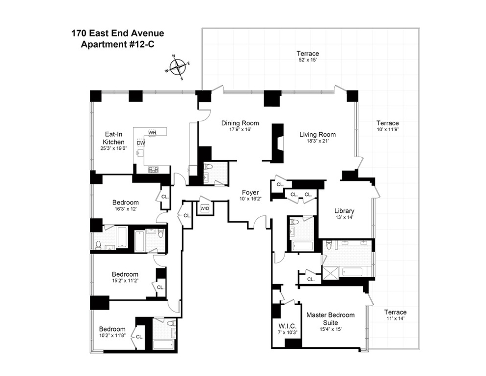 Unit 12C at 170 East End Avenue, New York, NY 10128