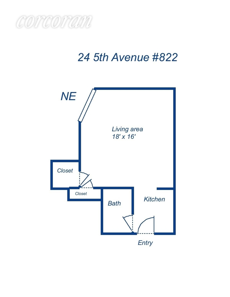 Unit 822 at 24 5th Avenue, New York, NY 10011