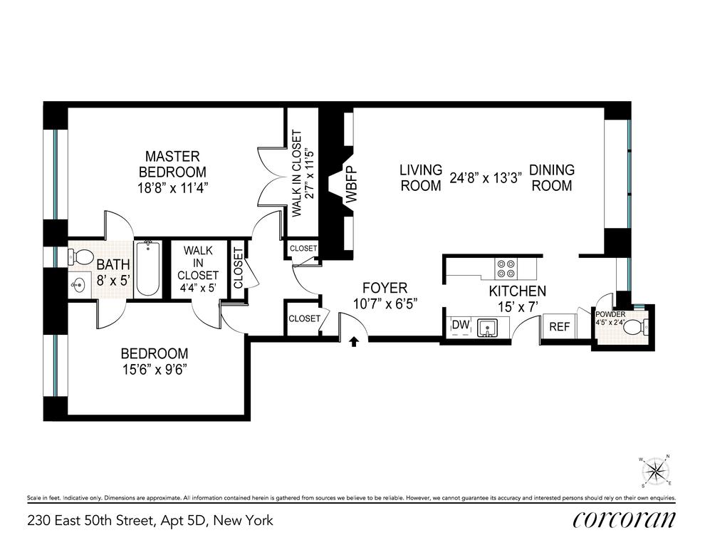 Unit 5D at 230 East 50th Street, New York, NY 10022