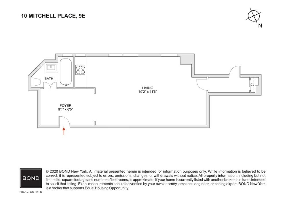 Unit 9E at 10 Mitchell Place, New York, NY 10022