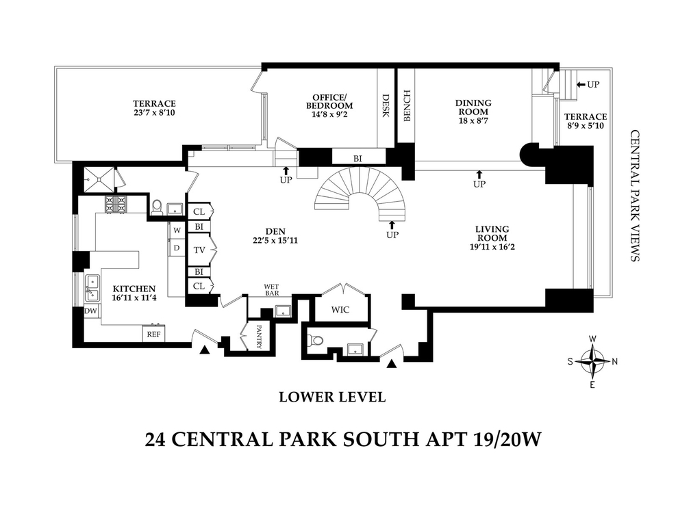 Unit 1920W at 24 Central Park South, New York, NY 10019