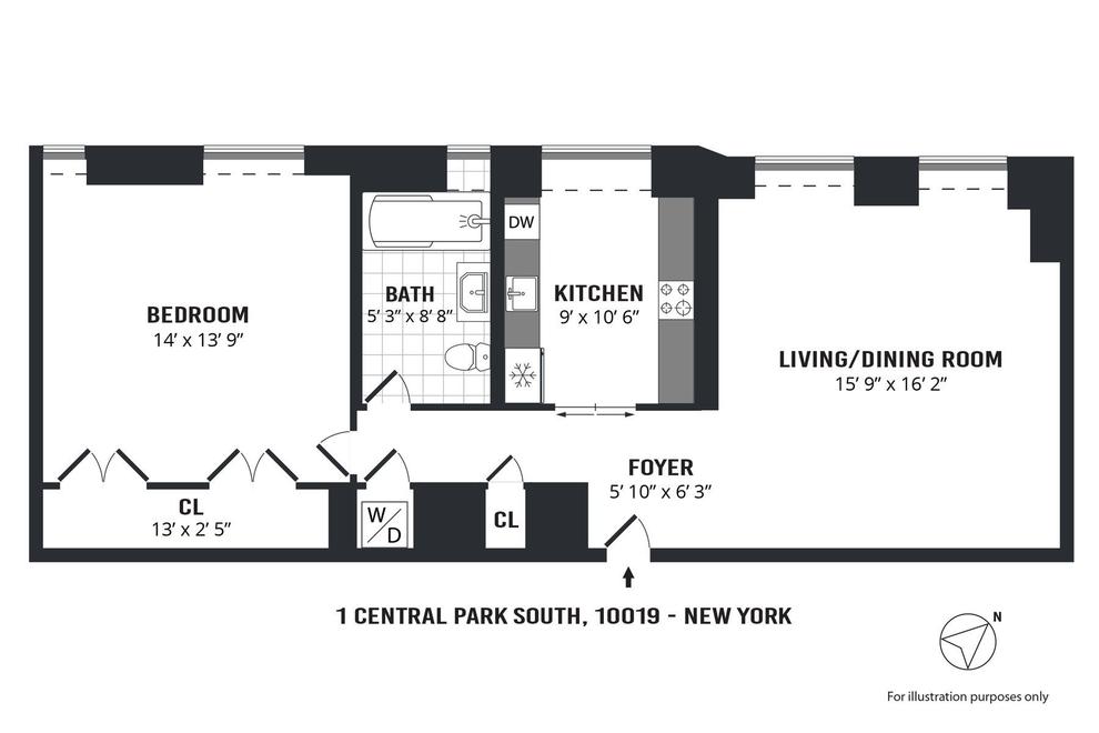 Unit 1710 at 1 Central Park South, New York, NY 10019