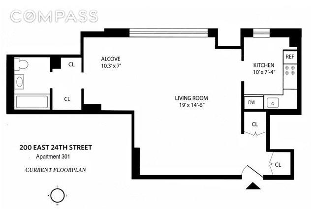 Unit 301 at 200 East 24th Street, New York, NY 10010