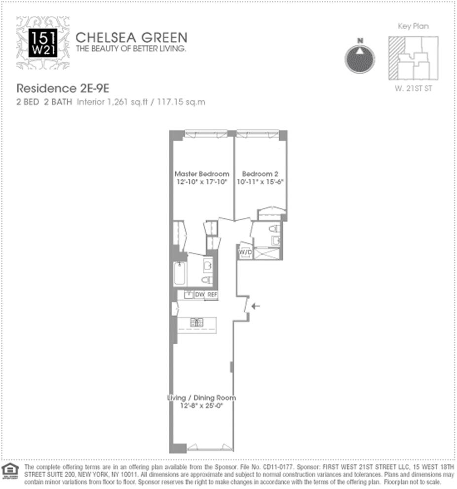 Unit 8E at 151 West 21st Street, New York, NY 10011