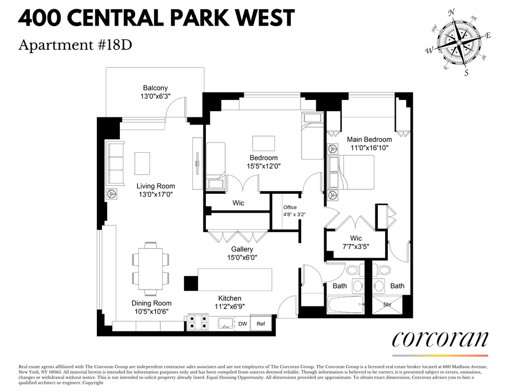 Unit 18D at 400 Central Park West, New York, NY 10025