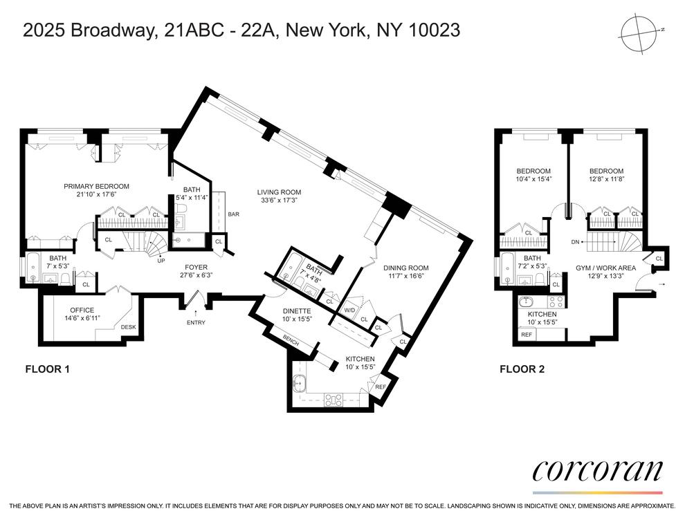 Unit 21ABC22A at 2025 Broadway, New York, NY 10023