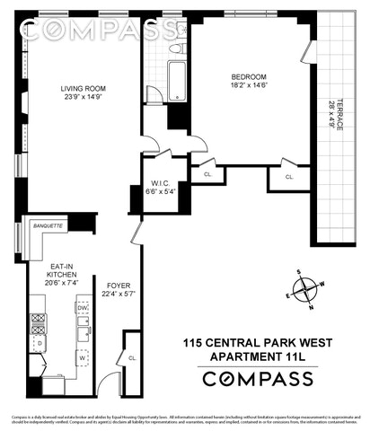 Unit 11L at 115 Central Park West, New York, NY 10023
