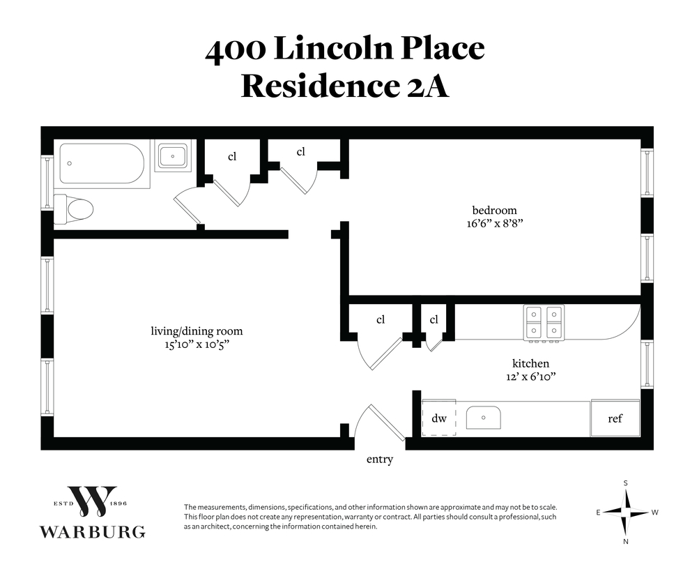 Unit 2A at 400 Lincoln Place, Brooklyn, NY 11238