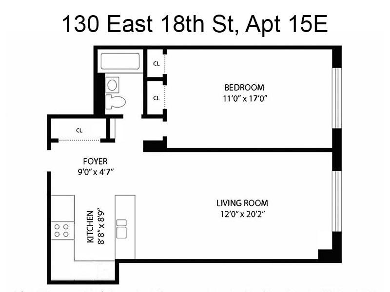Unit 15E at 130 East 18th Street, New York, NY 10003