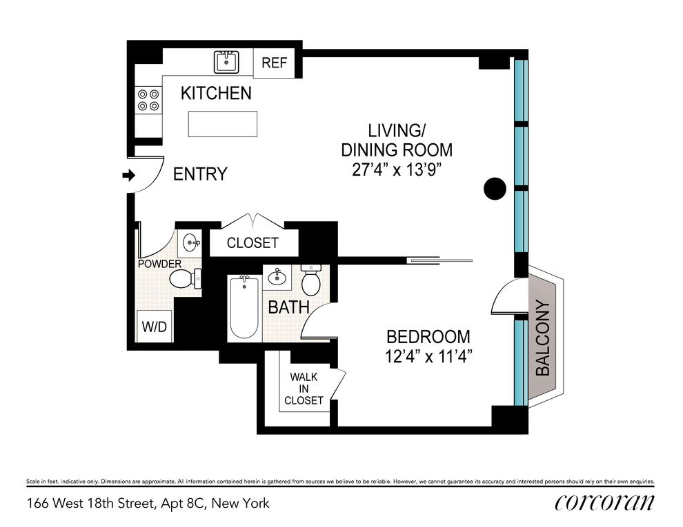 Unit 8C at 166 West 18th Street, New York, NY 10011