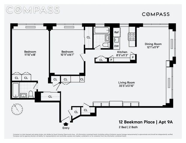 Unit 9A at 12 Beekman Place, New York, NY 10022